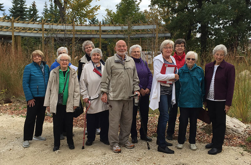 The Transcona Friends and Neighbours enjoyed a lovely walk in the park with Yude in September. Photo courtesy of Carol Kirkhope